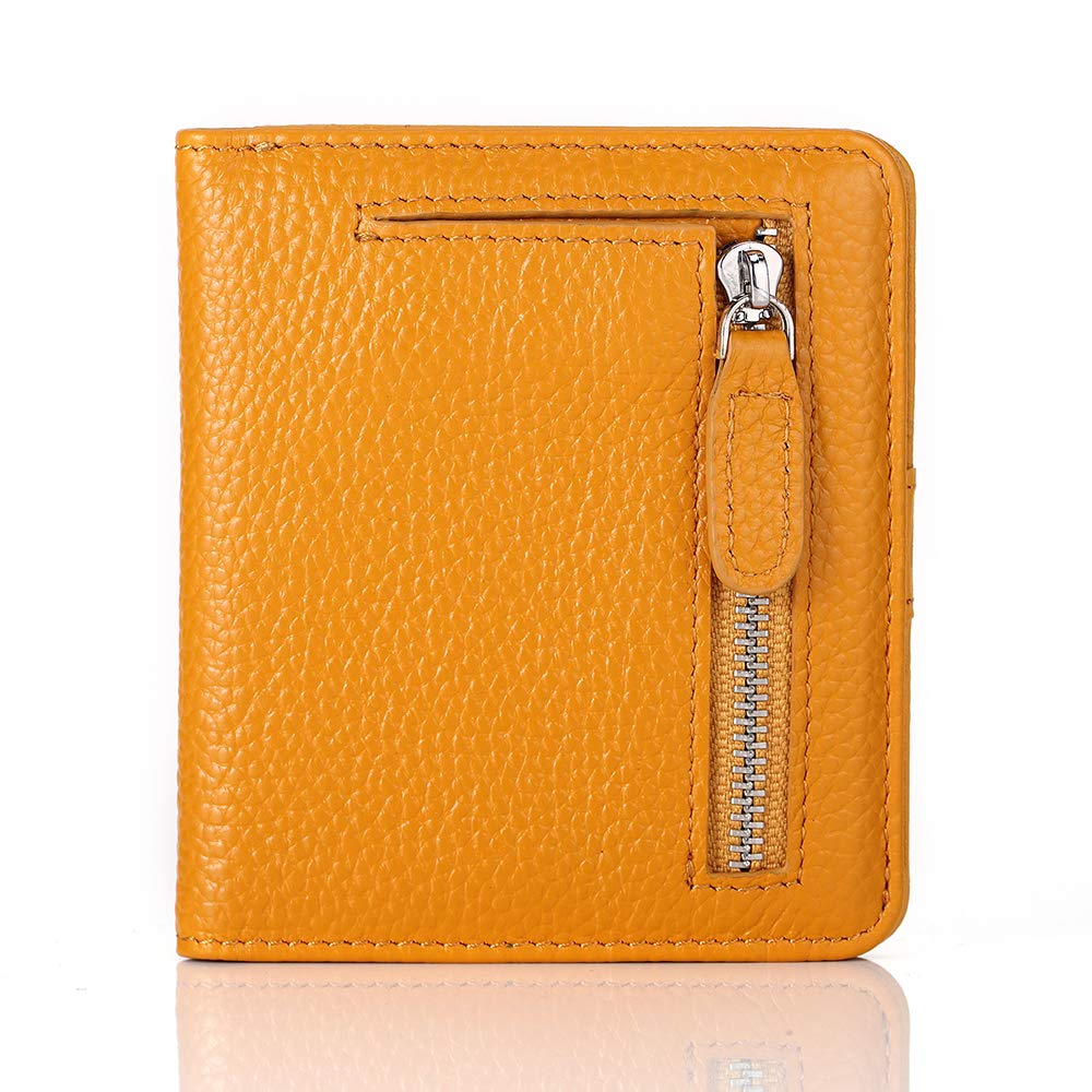 Genuine Double Zip Leather Mens L1465 Ladies Small Nappa Leather Coin Pouch