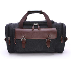 Canvas Duffel bag Overnight Travel Bags Travel Duffel Bag for Men Canvas&Leather gym Bag women