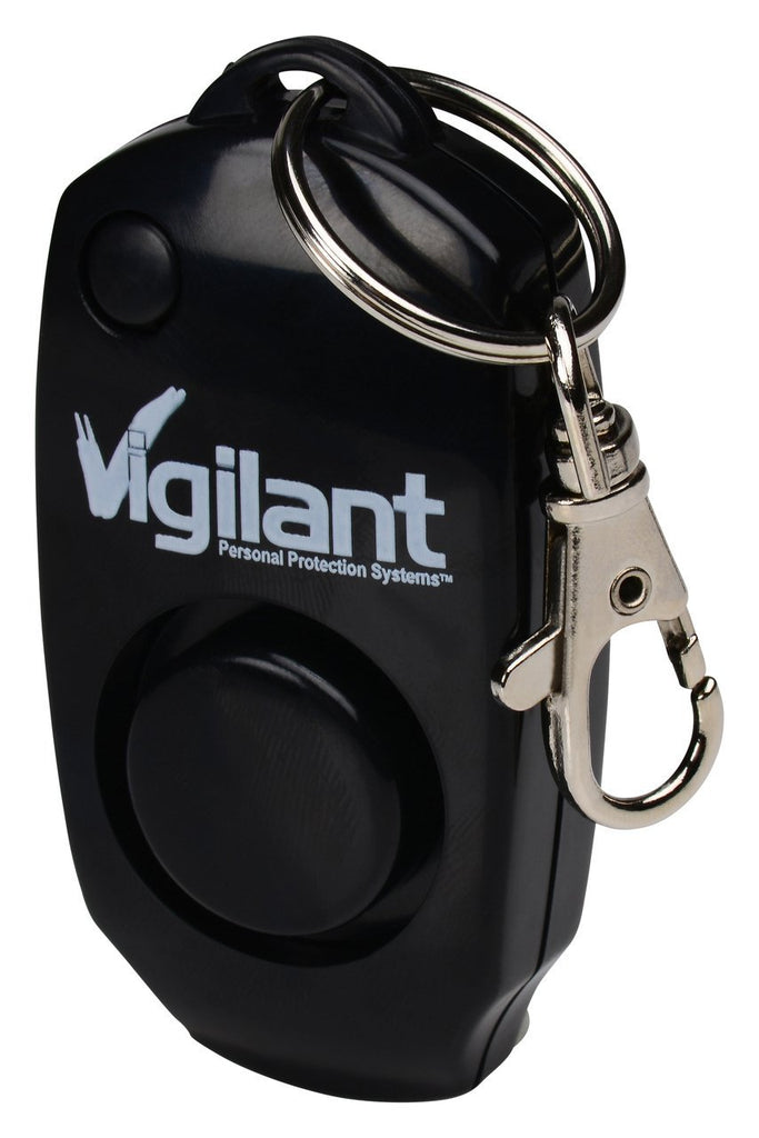 Vigilant 130dB Personal Alarm - Backup Whistle - Button Activated with Hidden Off Button - Bag Purse Key Chain Keyring Clip - Batteries Included - for