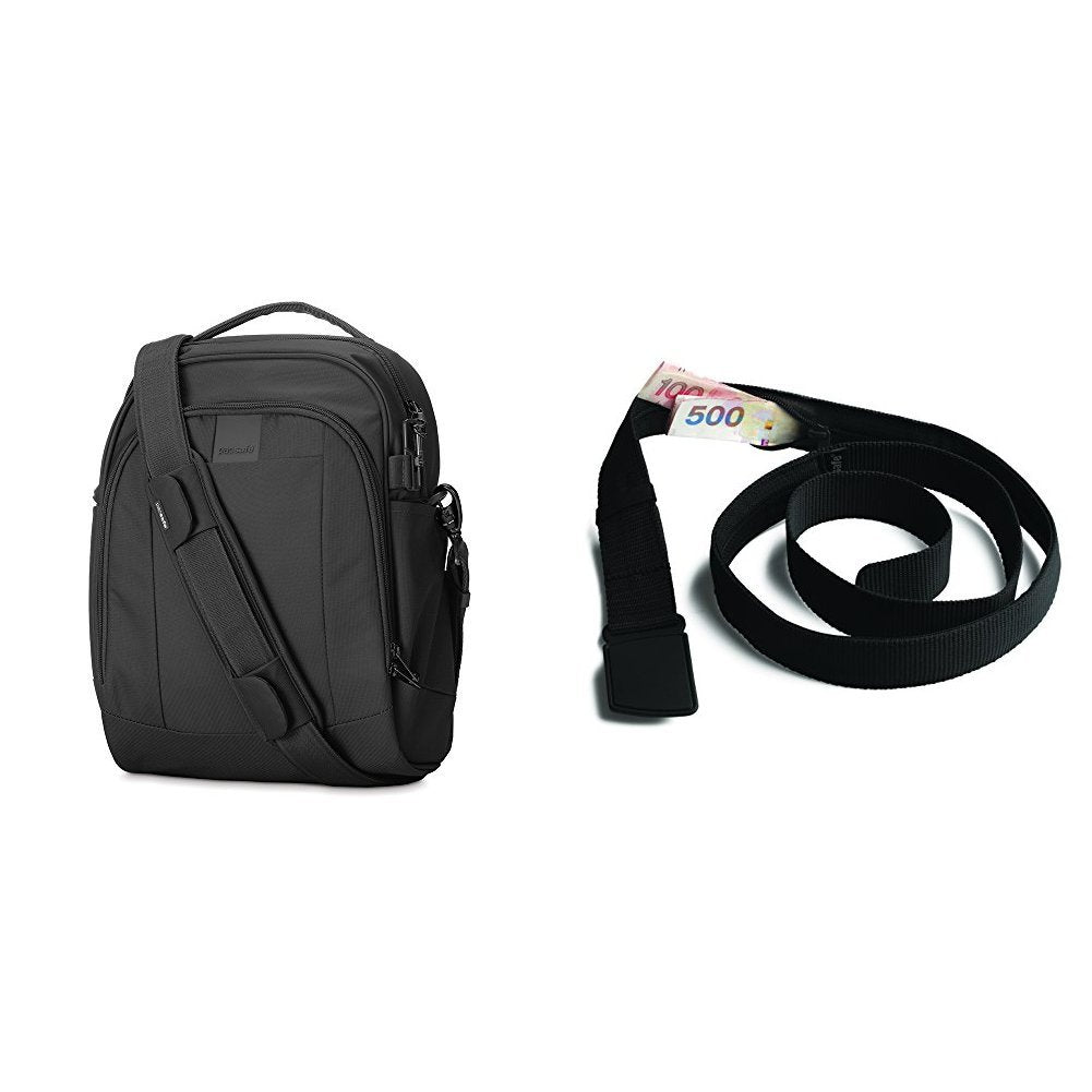 PacSafe Metrosafe LS250 Anti-Theft Shoulder Bag with RFID Blocking Neck Pouch