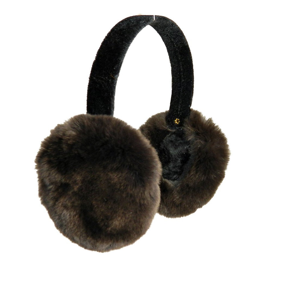 Rex Rabbit Fur Earmuffs on Velvet Band