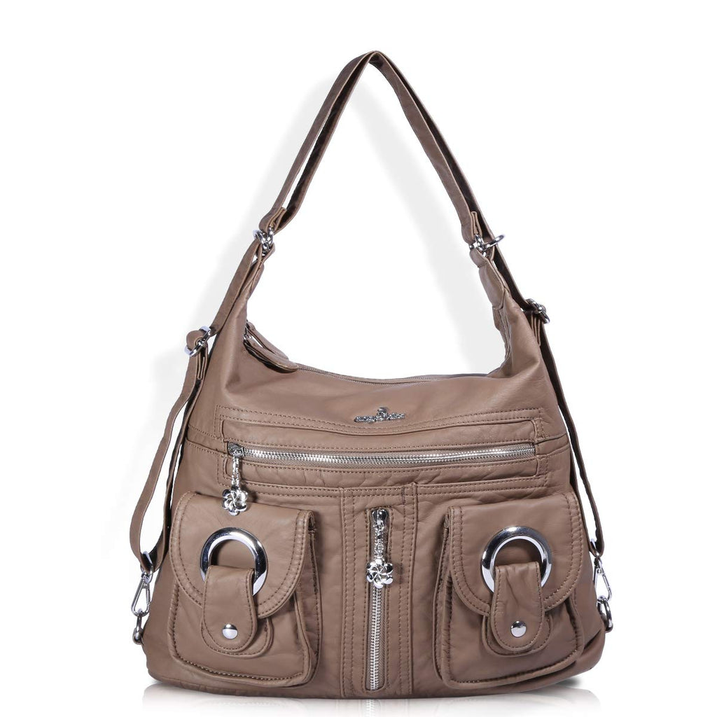 Image result for multifunctional leather hobo bag