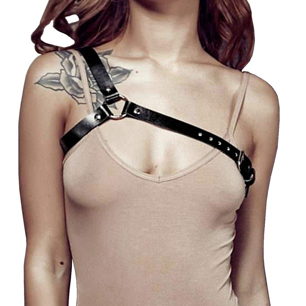 Homelix Punk Leather Body Chest Straps Waist Harness Straps Adjustable For Women