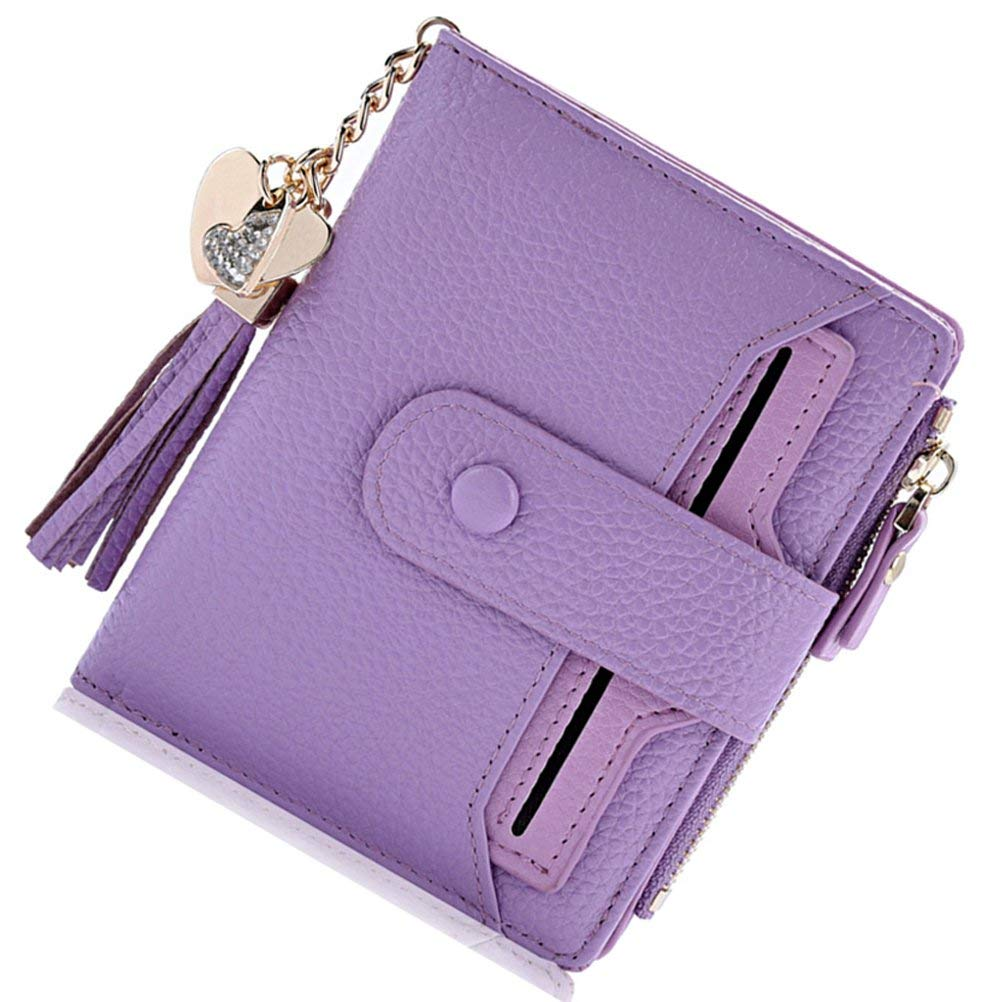 53175244ea05 BOBILIKE Leather Bifold Wallet Small Coin Purse Card Holder ID ...