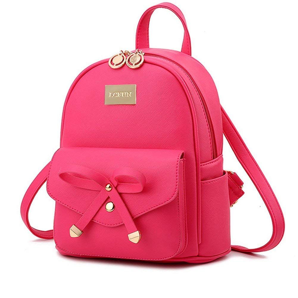 Cute Mini Leather Backpack Fashion Small Daypacks Purse for Girls and Women Beige