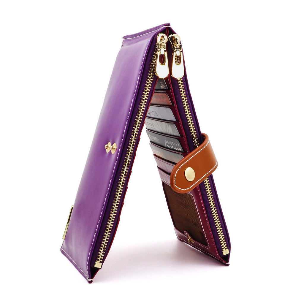 052a26456cd7 ANDOILT Women's Genuine Leather Wallet RFID Blocking Credit Card ...