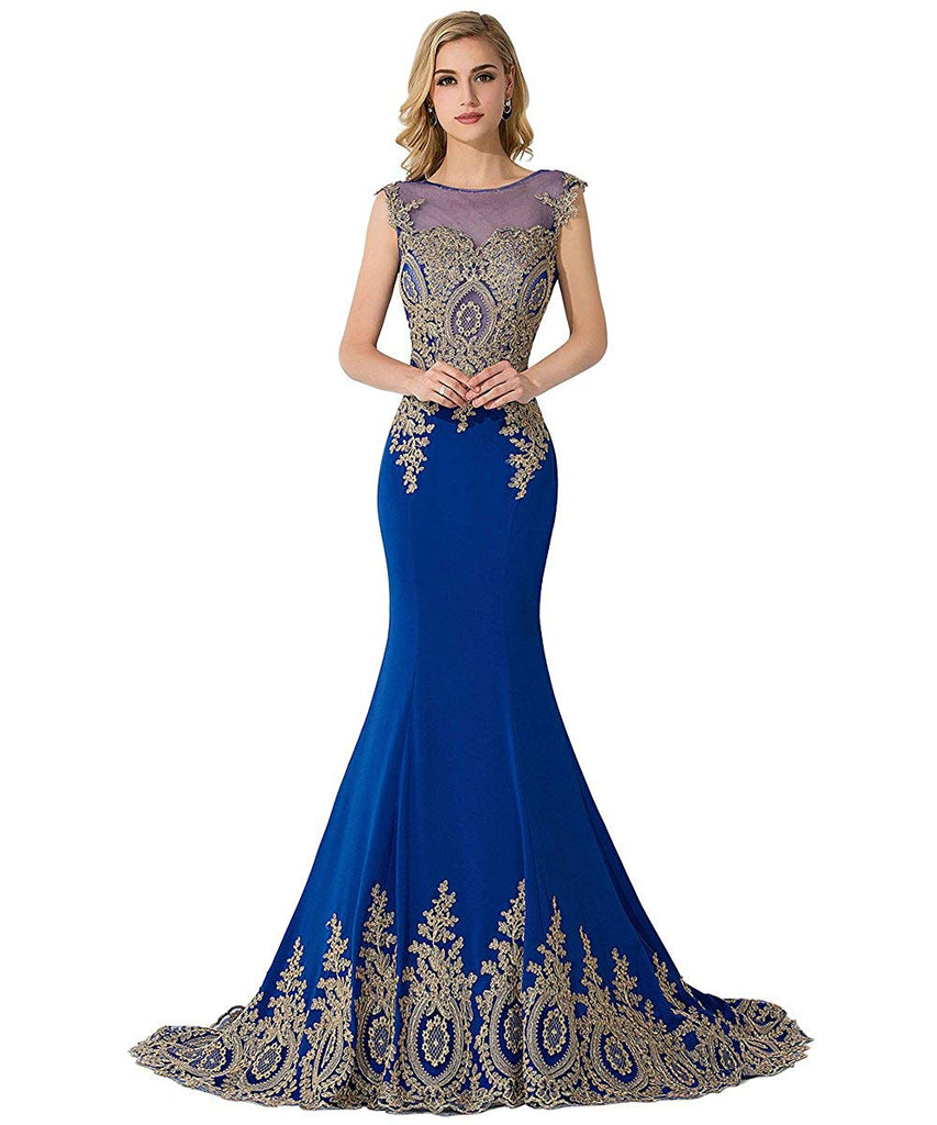 0247ca5ffd MisShow Women's Embroidery Lace Long Mermaid Formal Evening Prom Dresses