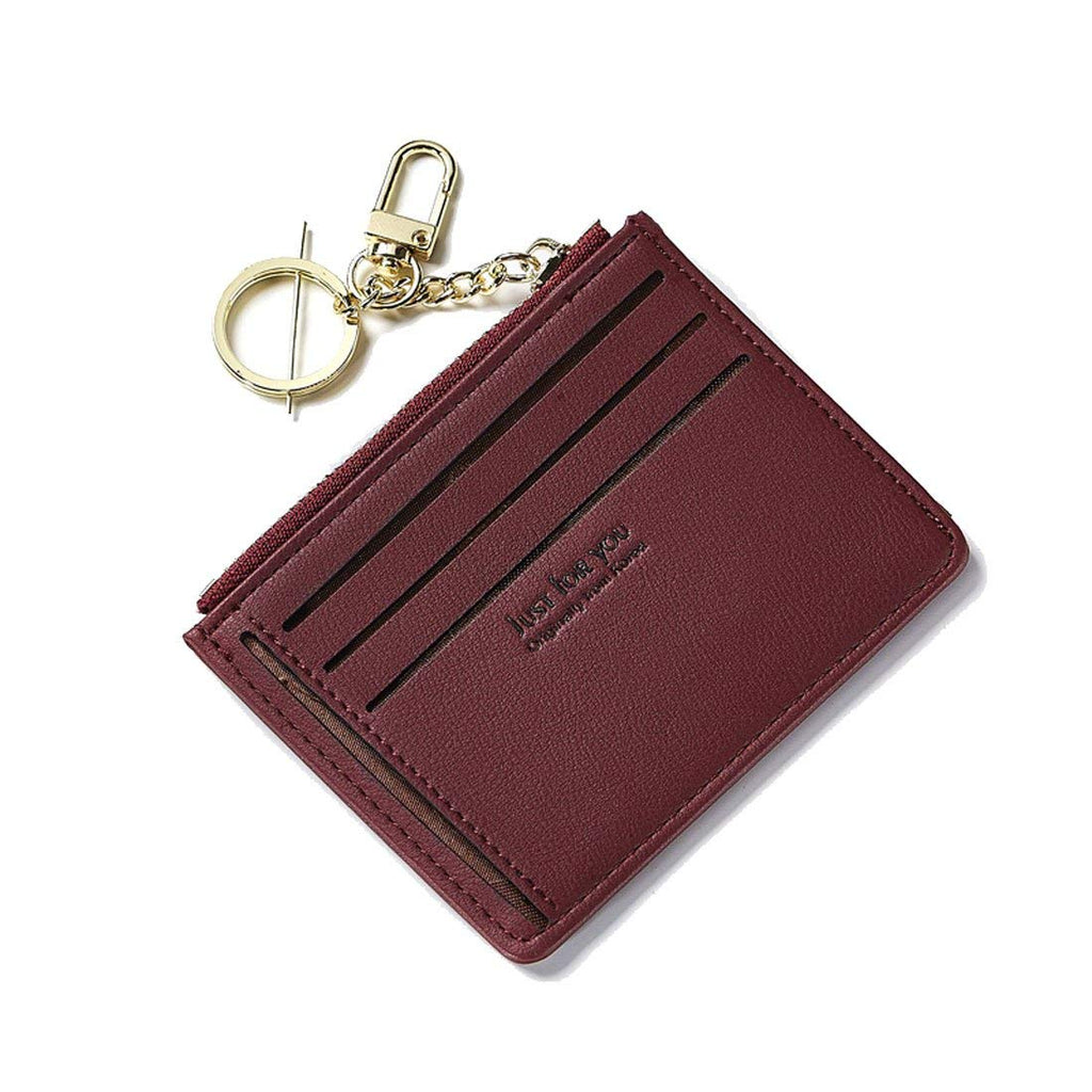 Slim Wallet Card Case Holder Minimalist Pouch Thin Compact Wallet For Women Leather Purse Mini Pocket Front Pocket Girls Gift