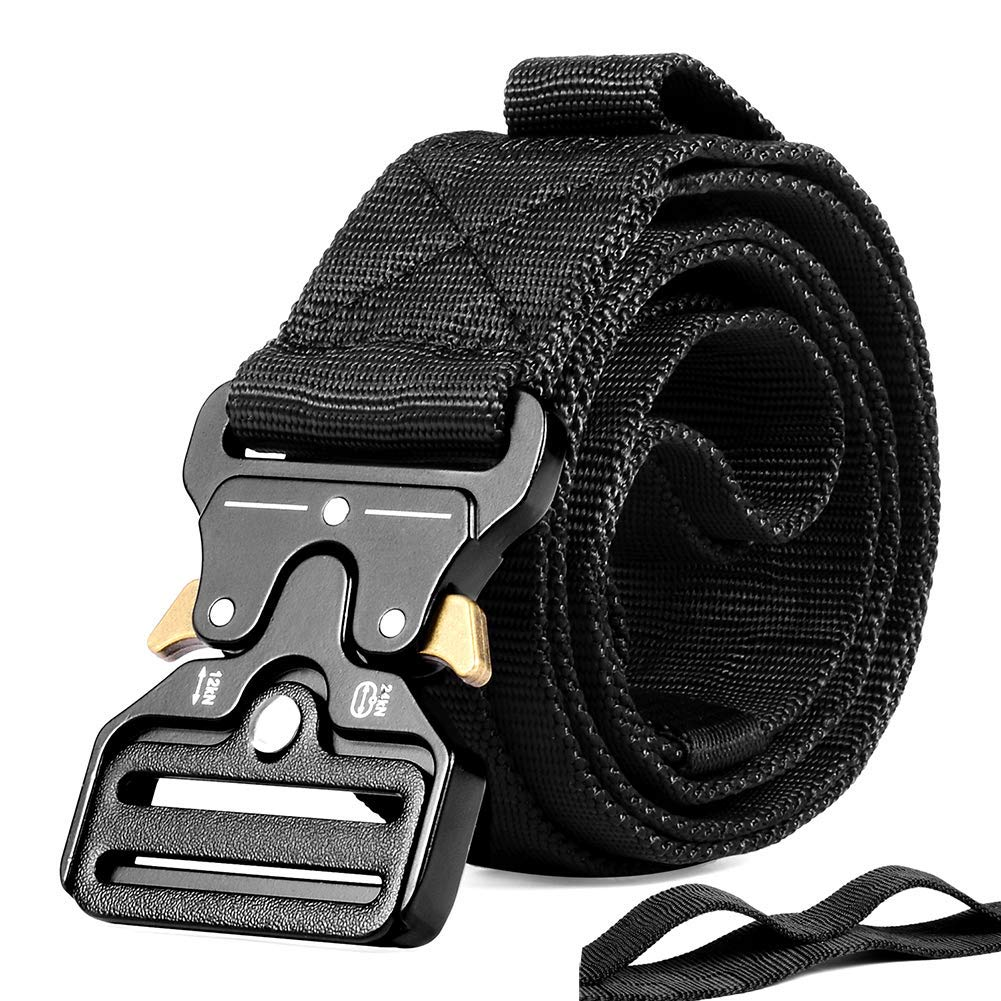 OHENNY Tactical Military Belt Webbing Adjustable Nylon Quick-Release