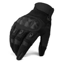 TACVASEN Men's Tactical Shooting Rubber Hard Knuckle Full Finger Combat Motorcycle Gloves