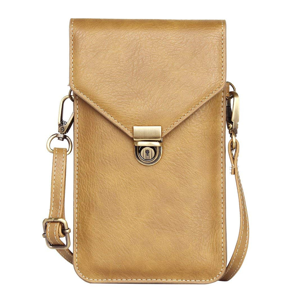Leather Shoulder Messenger Bag, Rosa Schleife Practical Ladies Men Double Layer Leather Cross Body Shoulder Bag Purse Pocket Belt Pouch Bag Holster Ha