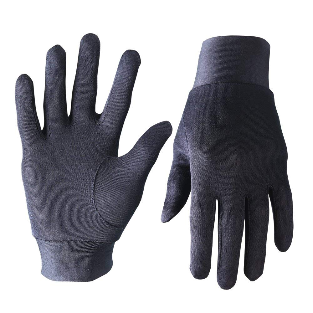 EvridWear Pure Silk Warm Breathable Gloves All Season Sun and Cold Protection suitable for Driving Riding as Liners