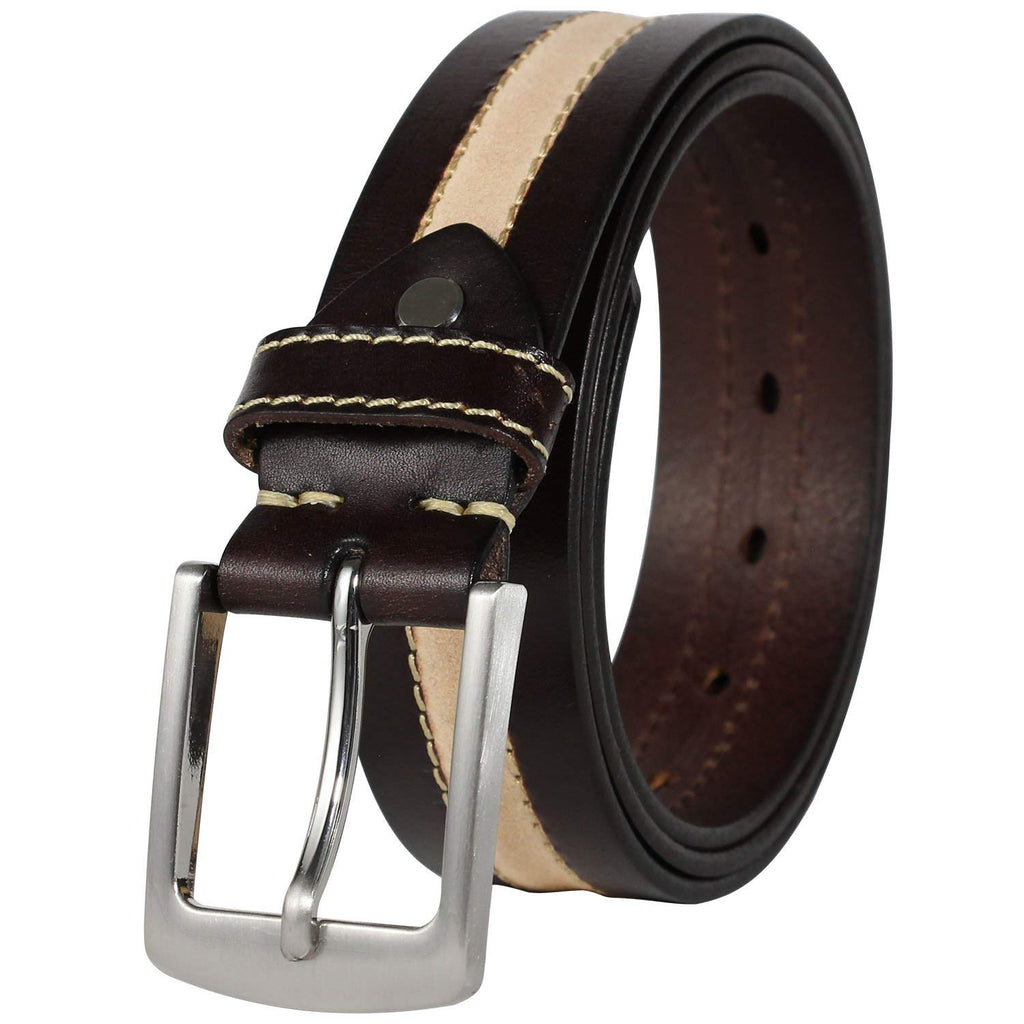 Leather Friend Mens Hand Crafted Dress Belt Mahogany