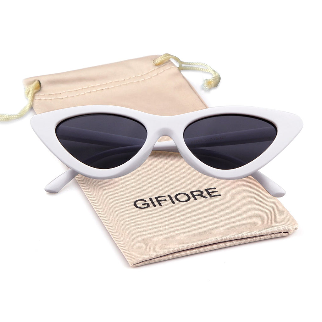 2c81e7625cb8 ... Gifiore Retro Vintage Cateye Sunglasses for Women Clout Goggles Plastic  Frame Glasses ...