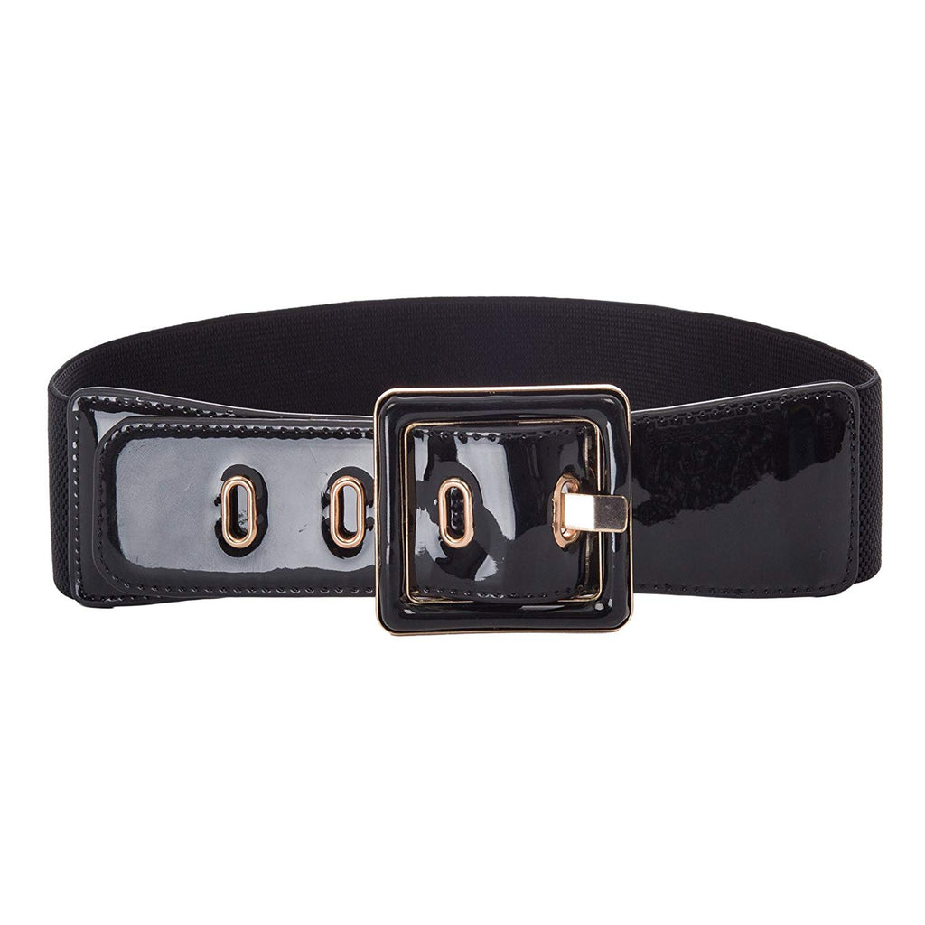 Hanna Nikole Women Wide Stretchy Cinch Belt PU Leather Waistband Belt