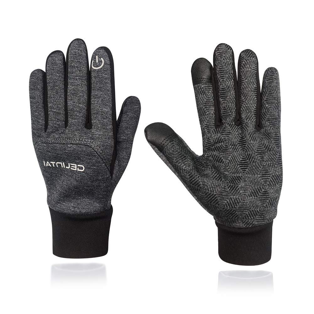 Winter Warm Gloves,Unisex Cold Weather Thermal Touchscreen Gloves For Cycling Running Outdoor Activities Men Women