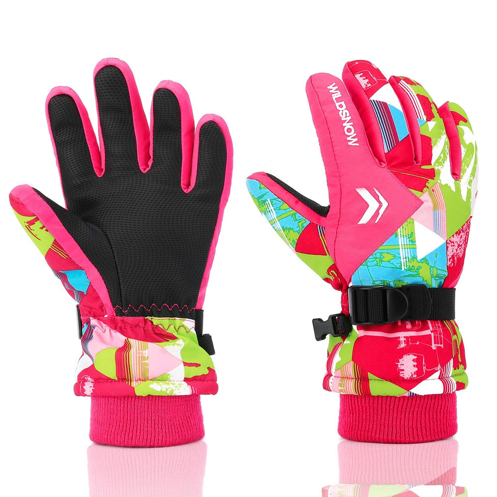 Ski Gloves, RunRRIn 100% Waterproof Warm Snow Gloves for Mens, Womens, and Kids