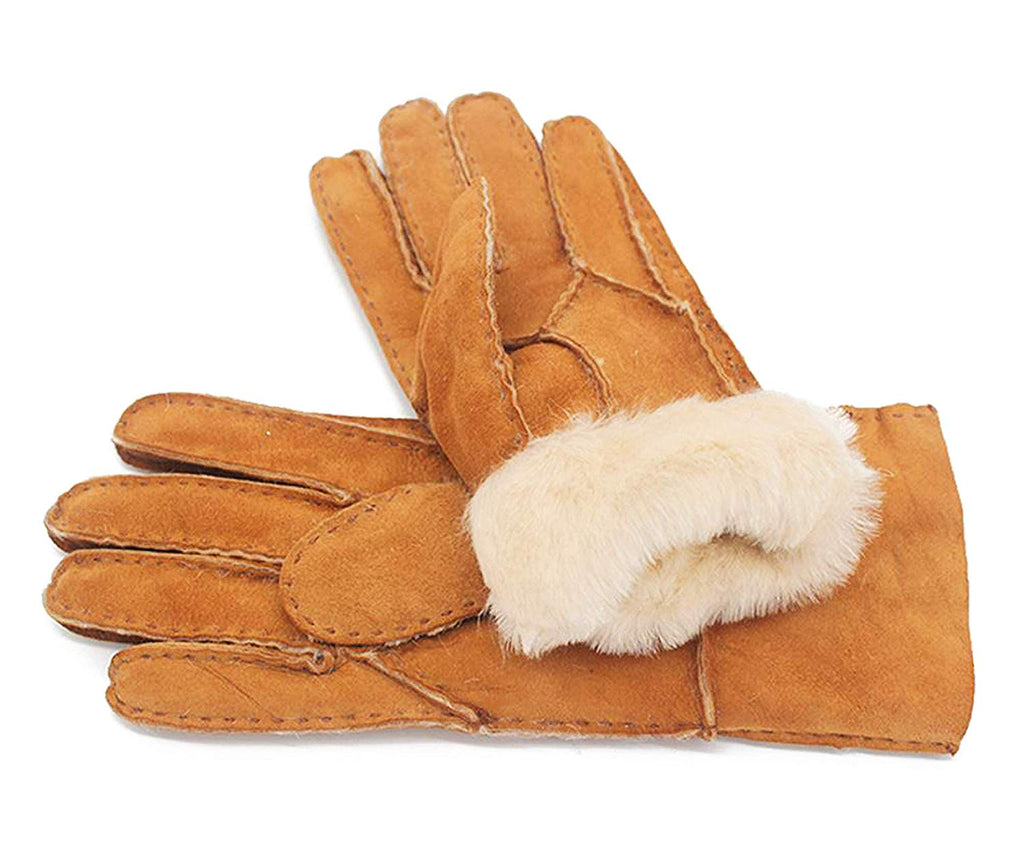 GISEMAI Womens Sheepskin Leather Fur Lined Gloves for Winter | Fully Soft Shearling Inside