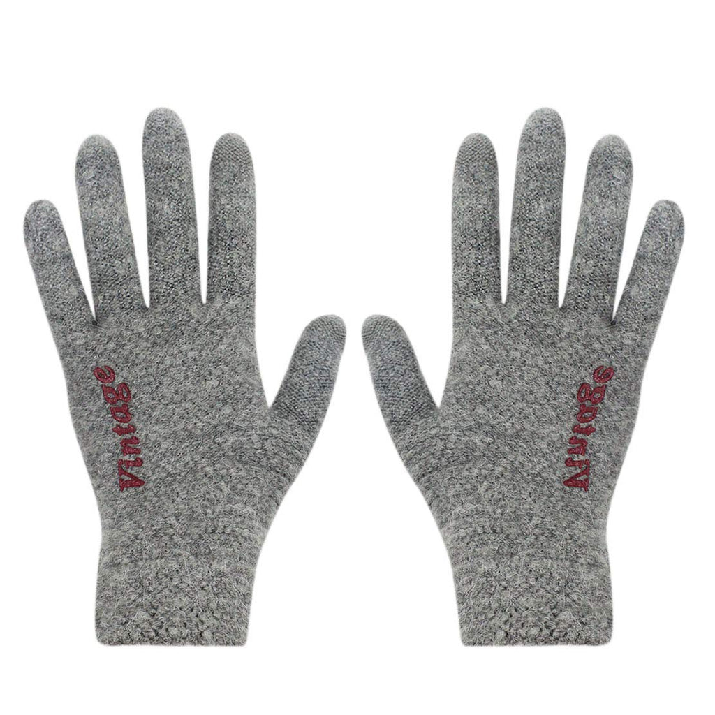 RARITY-US Men/Women Winter Touchscreen Thick Knit Gloves with Warm Lining Texting for Smartphone