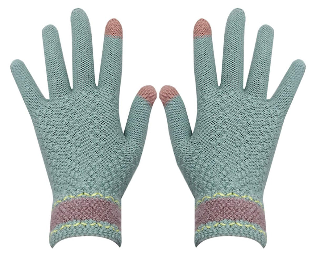 Gloves us Touch Screen Warm Winter Knitted Gloves Soft Thick Wool Windproof Cold Proof Thermal Mittens for Women Girls