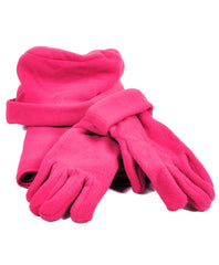 Solid Color Polyester 3 Piece Fleece Hat, Scarf & Glove Women's Winter Set