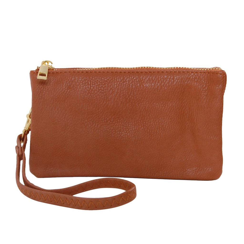 Humble Chic Vegan Leather Wristlet Wallet Clutch Bag - Small Phone Purse Handbag