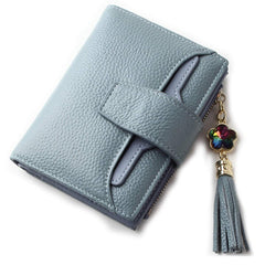 BOBILIKE Leather Bifold Wallet Small Coin Purse Card Holder ID Window Wallets for Women