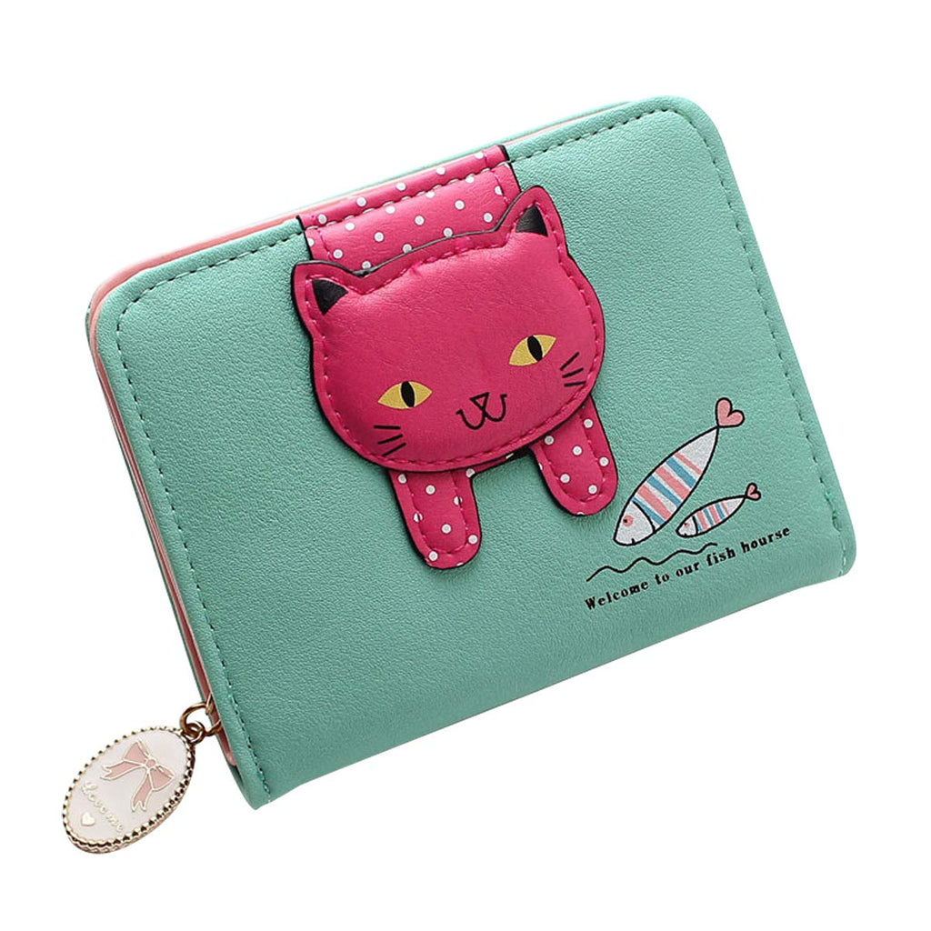 975e274a53f3 HeySun Women's Adorable Small Wallet Cat Ears Coin Purse Money Clip  Designer Card Case