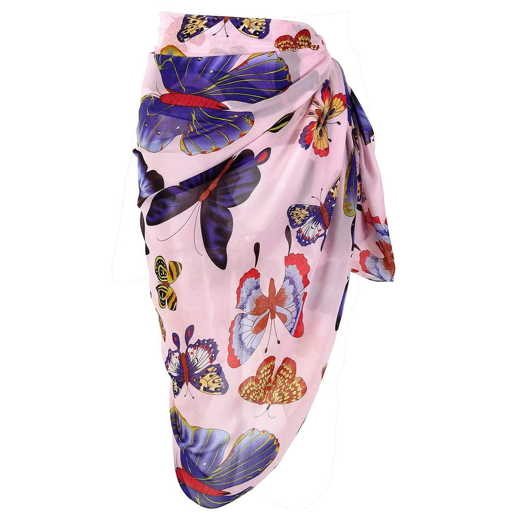 d359b02855 CHIC DIARY Women Chiffon Pareo Beach Wrap Sarong Swimsuit Scarf Cover Up for  Vacation