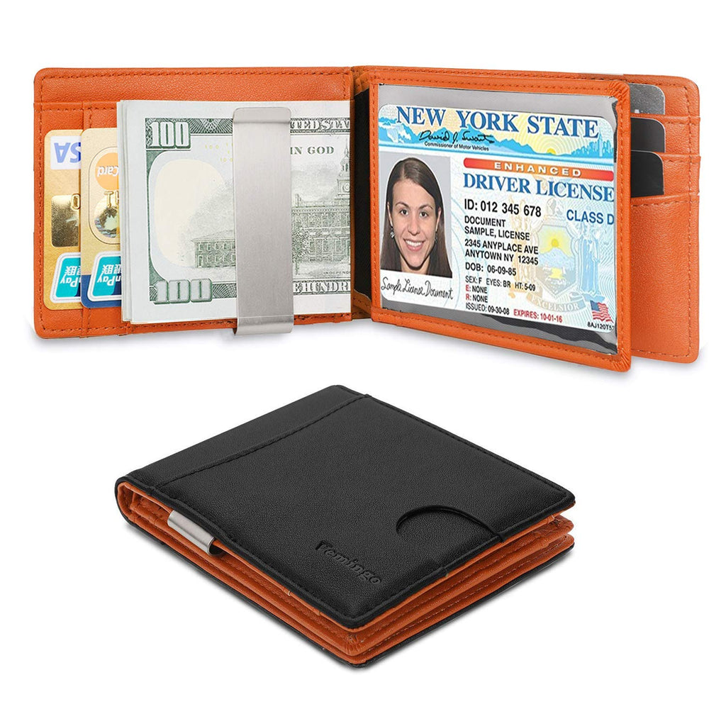 0b60ad12ffc2 Vemingo Wallets for Men Slim Money Clip Wallet Front Pocket RFID Blocking  Bifold Wallet with 2 ID Window Gift Box Included