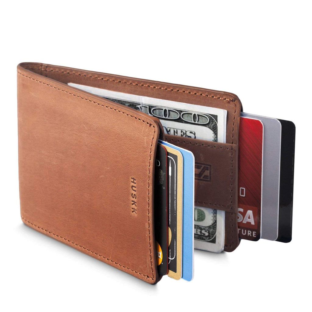 9124c9759e3a HUSKK Mens Wallet RFID Minimalist Slim Thin Front Pocket Card Holder ...