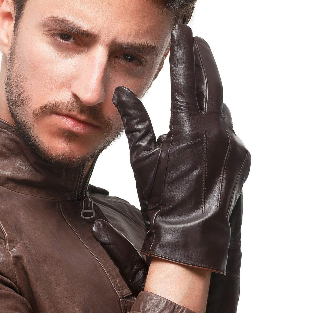 Nappaglo Men's Genuine Touchscreen Nappa Leather Gloves Driving Winter Warm Mittens