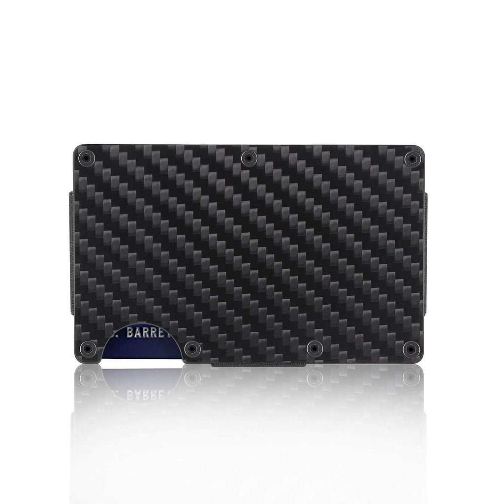 RFID Block Carbon Fiber Aluminum Minimalist Front pocket Wallet w// Money Clip