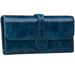 Jack&Chris Leather Clutch Wallets for Women Large Purse for Checkbook,Cash,Credit Cards,Cellphone, WBGT032