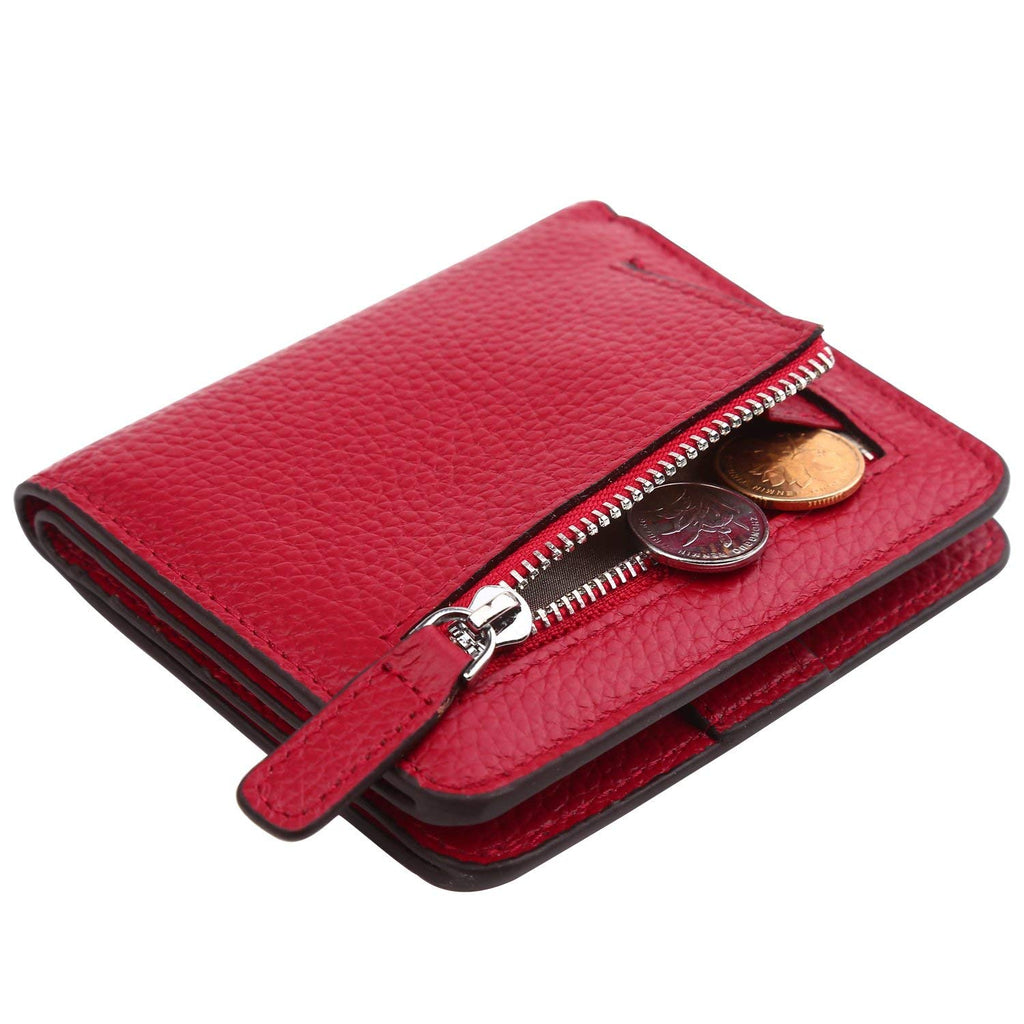 Dante Women's RFID Blocking Small Compact Bifold Leather Pocket Wallet Ladies Mini Purse
