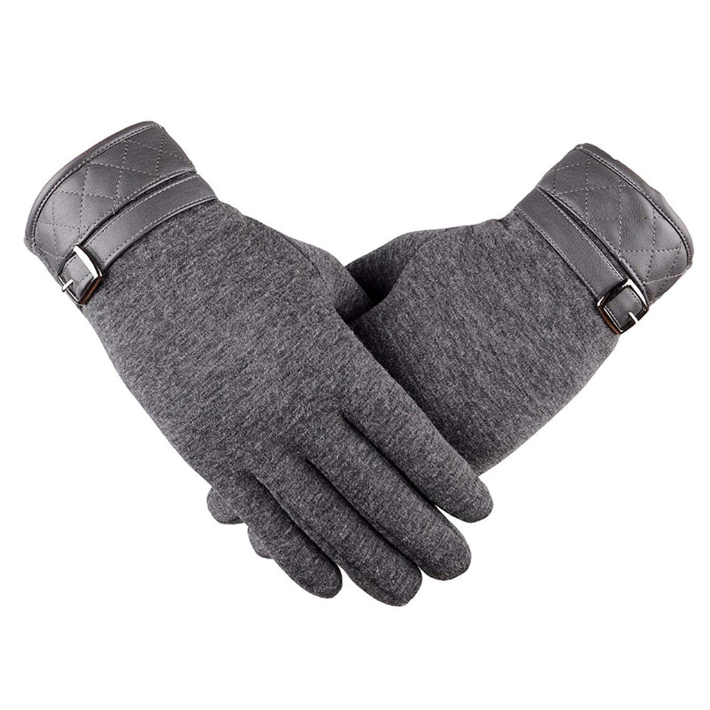 Eianru Mens Glove NEW TouchScreen Cold Weather Thick lining Driver Outdoor Gloves