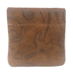 Leather Squeeze Coin Purse, Coin Pouch Change Holder For Men. Size 3.5 X 3.25