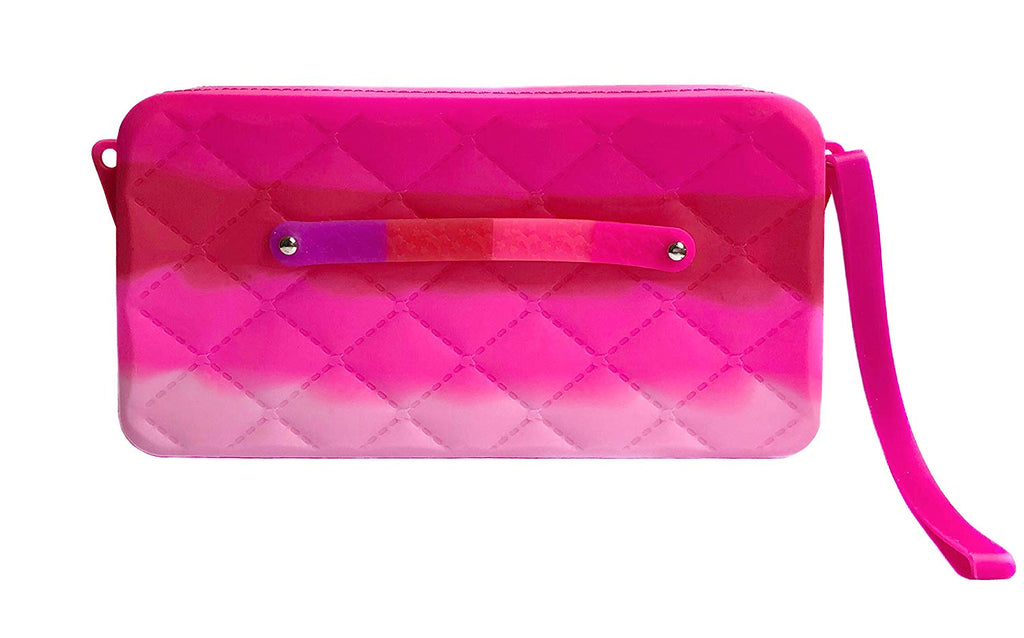 Colorful Wristlet Purse, Silicone Clutch
