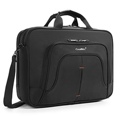 Sroteck 15.6 Inch Laptop Messenger Bag Briefcase Shoulder Bag Stylish Multi-Compartment Protective Water-Resistant Nylon Handbag for Men/Women (Black)