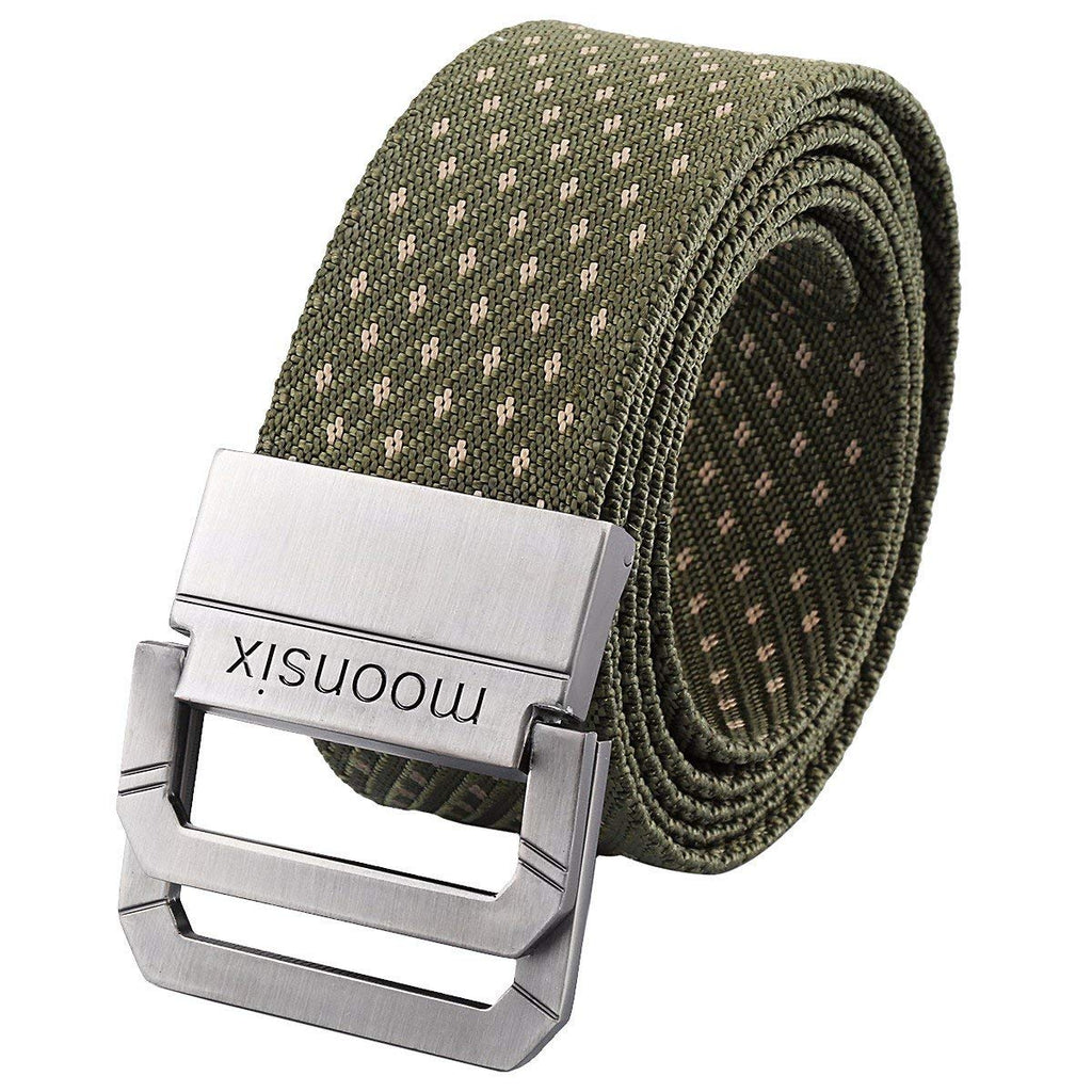 "moonsix Nylon Web Belts for Men,Tactical Military Style 1.5"" wide D-ring Buckle Men's Belt"