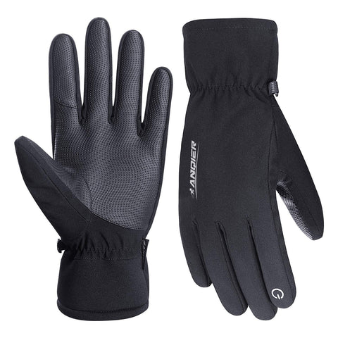 FengNiao Winter Gloves Waterpoof Touchscreen Gloves Windproof Thermal Gloves Men Women Outdoor Anti-Slip Cycling Driving Climbing Gloves