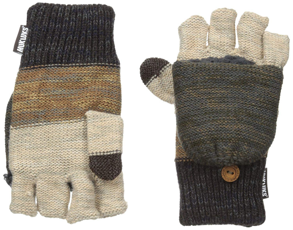 Muk Luks Men's Ombre Knit Flip Gloves