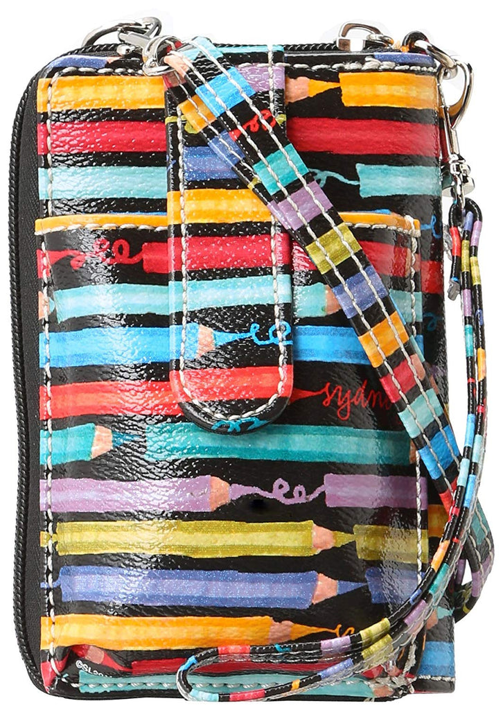 Sydney Love Colored Pencils Zip Around Cell Phone Wristlet