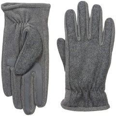 Isotoner Men's Wool-Blend Gloves with Gathered Wrist