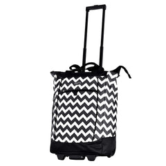 Olympia Fashion Rolling Shopper Tote - Black Polka Dots, 2300 cu. in.