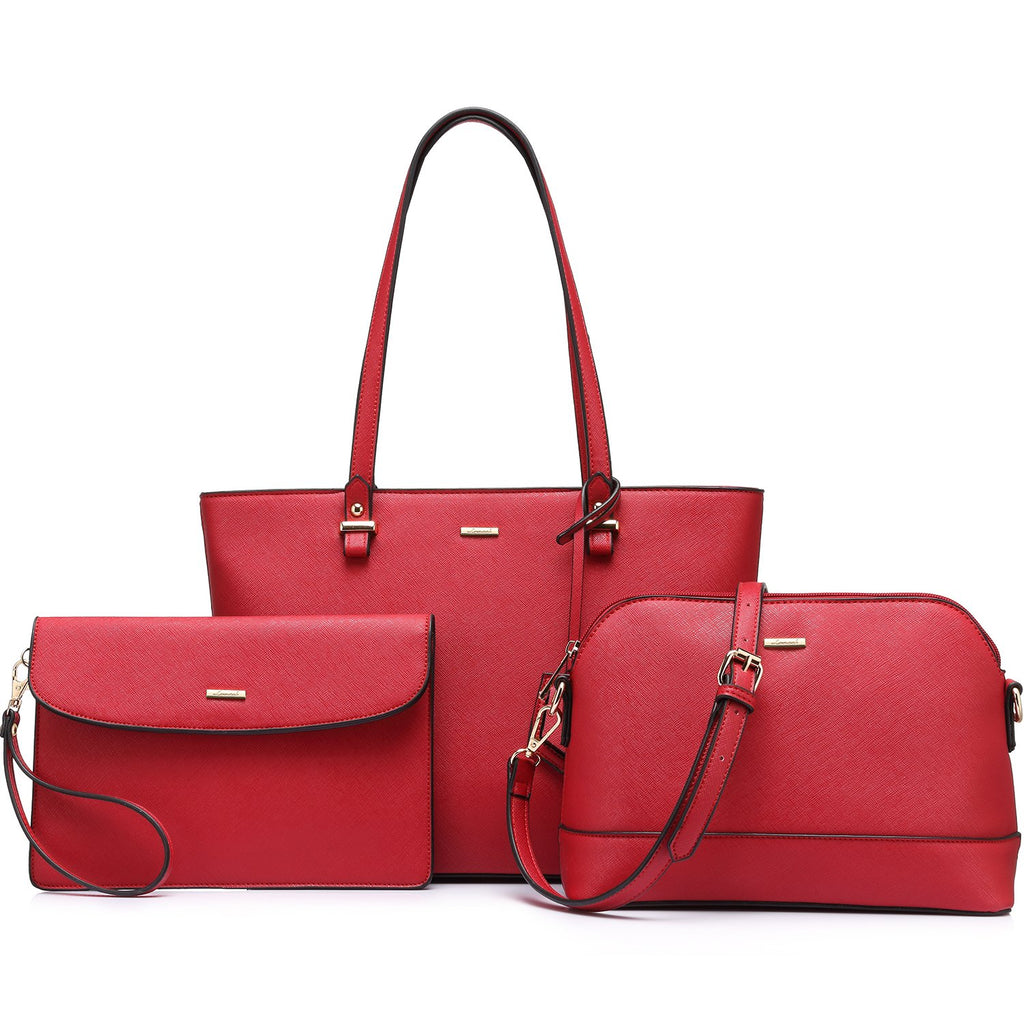 Purses and Handbags Designer Handbags for Women Tote + Crossbody + Envelope 3 Purses Set