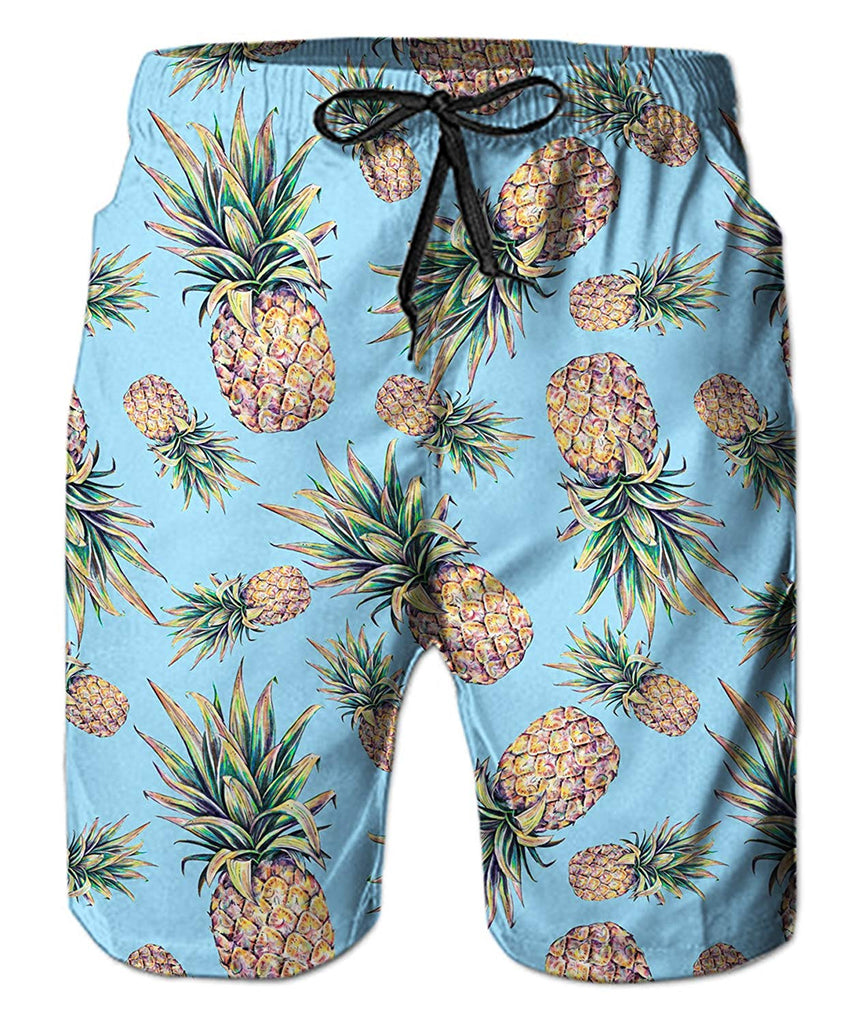 0b905904c5a ... Belovecol Mens Swim Trunks Summer Cool Quick Dry Board Shorts Bathing  Suit with Side Pockets Mesh ...