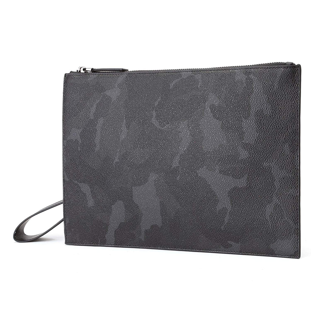 7b7cfeaa079d BABAMA Men Clutch Bag Wallet Camo Leather Women Handbag Zip Black ...