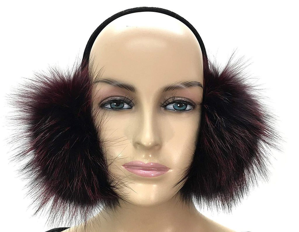 HIMA 100% Real Fox Fur Winter Earmuff, Made in US