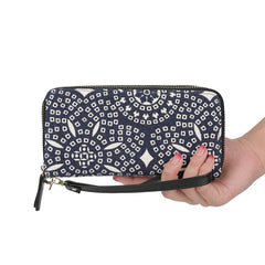 Women Wristlets Canvas Owl Wallet Zipper Purse Clutch Phone Card Holder Handbag